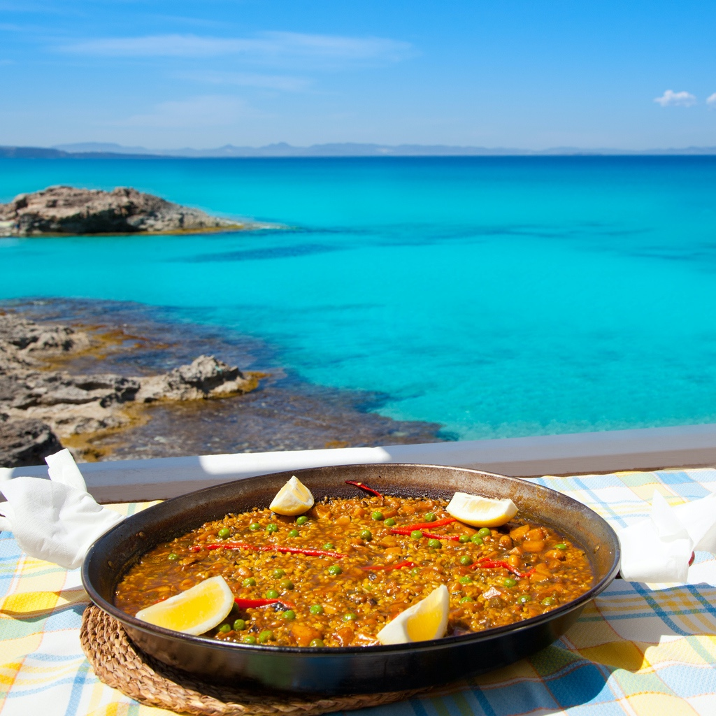 paella, spanish food