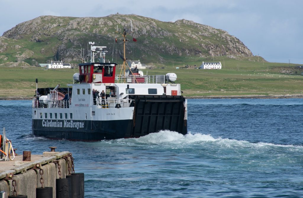 Caledonian MacBrayne Ferry travelling from Iona to Mull
