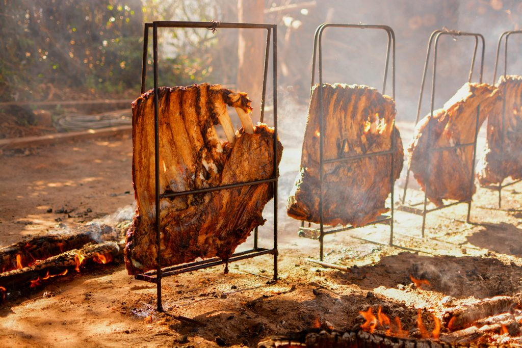 "Traditional brazilian southern barbecue named ""Churrasco Gaúcho"""