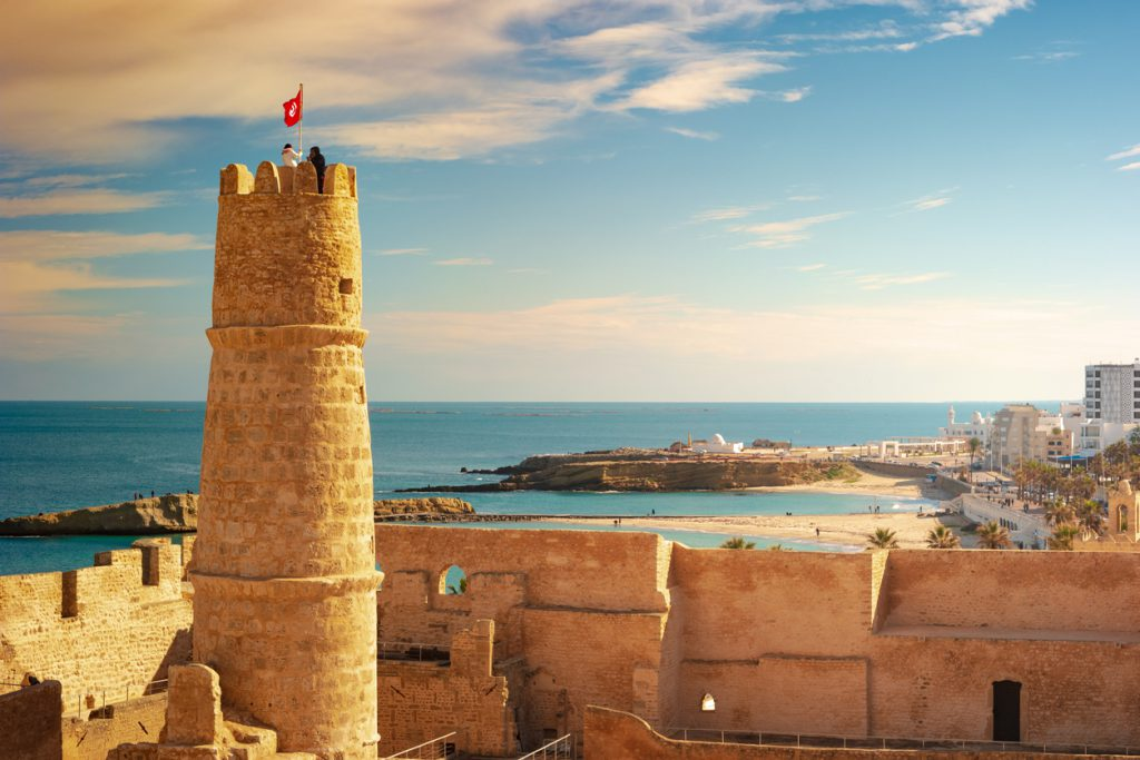 The medieval fortress in Monastir, Tunisia.