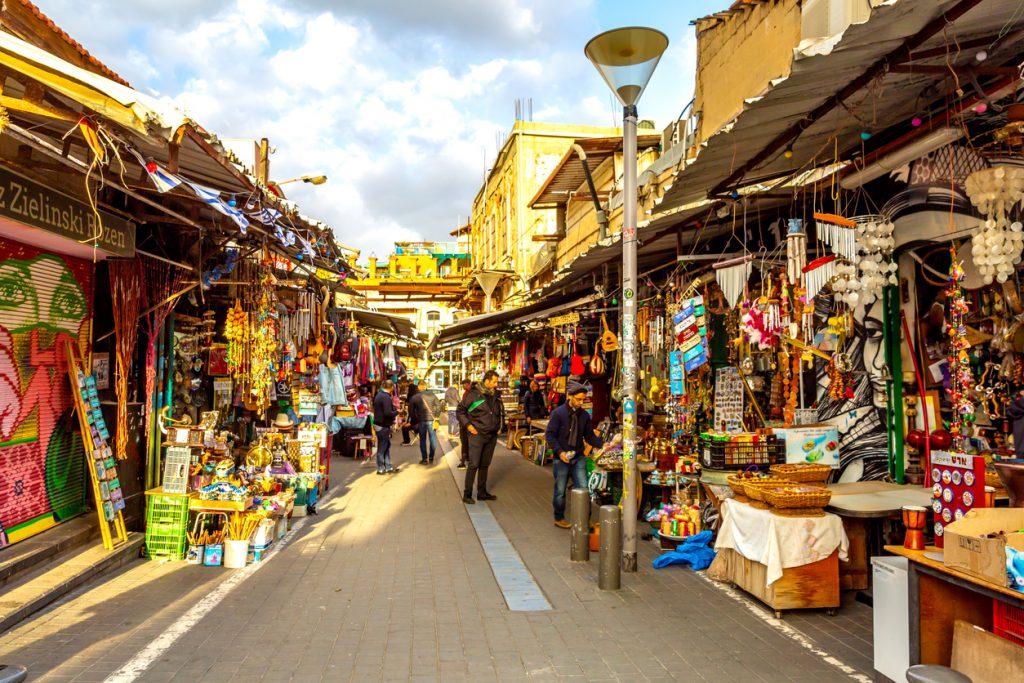 Flea marekt in old Jaffa city ,Tel Aviv, Israel.