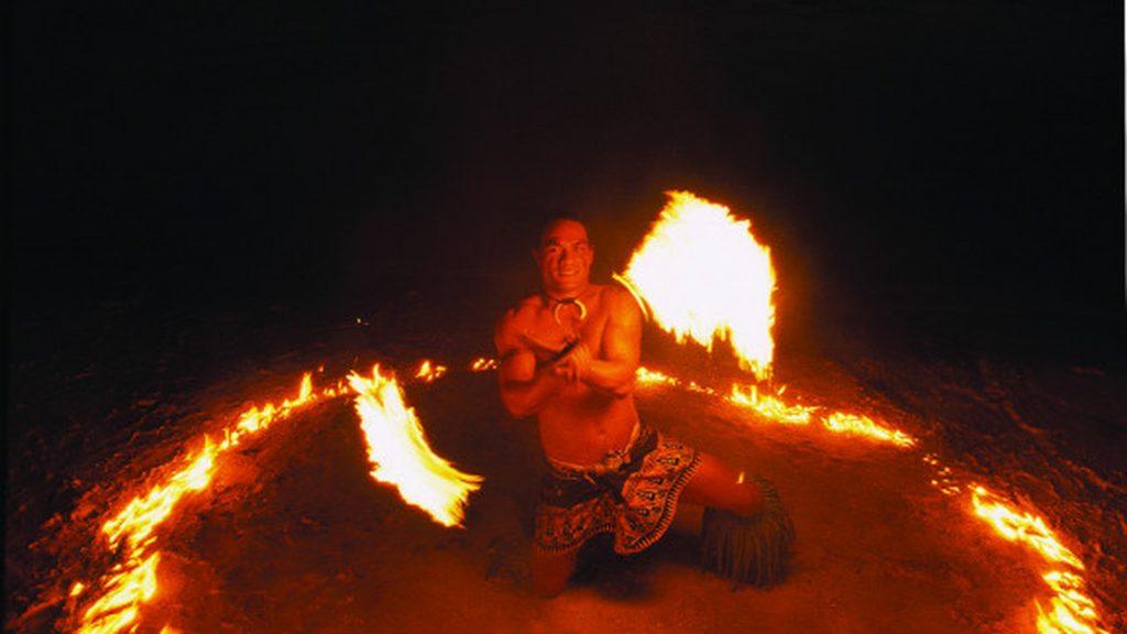 samoa - fire dancer