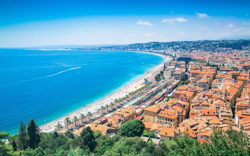 top beaches in Nice, France