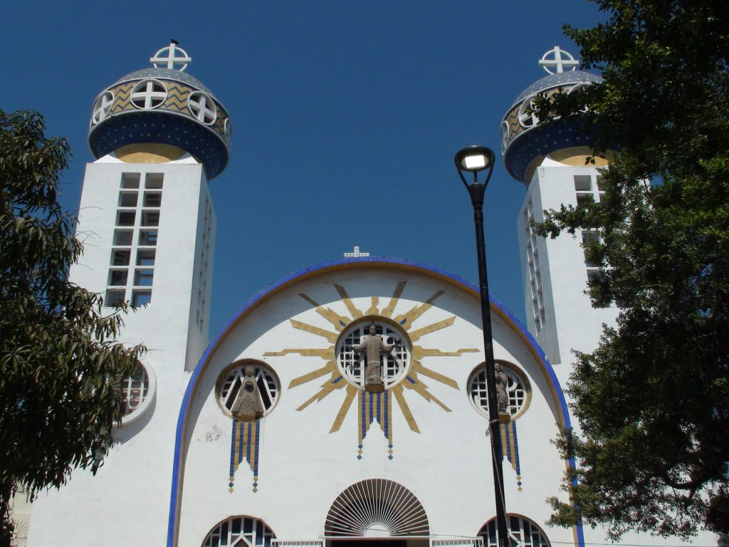 Acapulco Our Lady Of Solitude Cathedral Building Exterior View In Guerrero Mexico