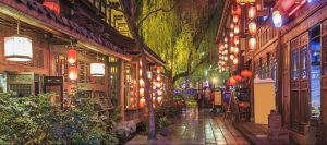 Jinli Street town and Kuan Alley and Zhai Alley in Chengdu